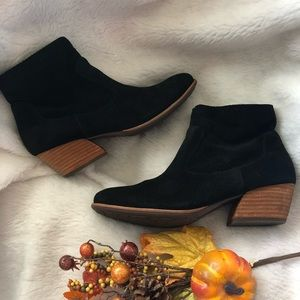 Kork ease black suede booties